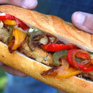 Milanese Philly Cheesesteak with Veal