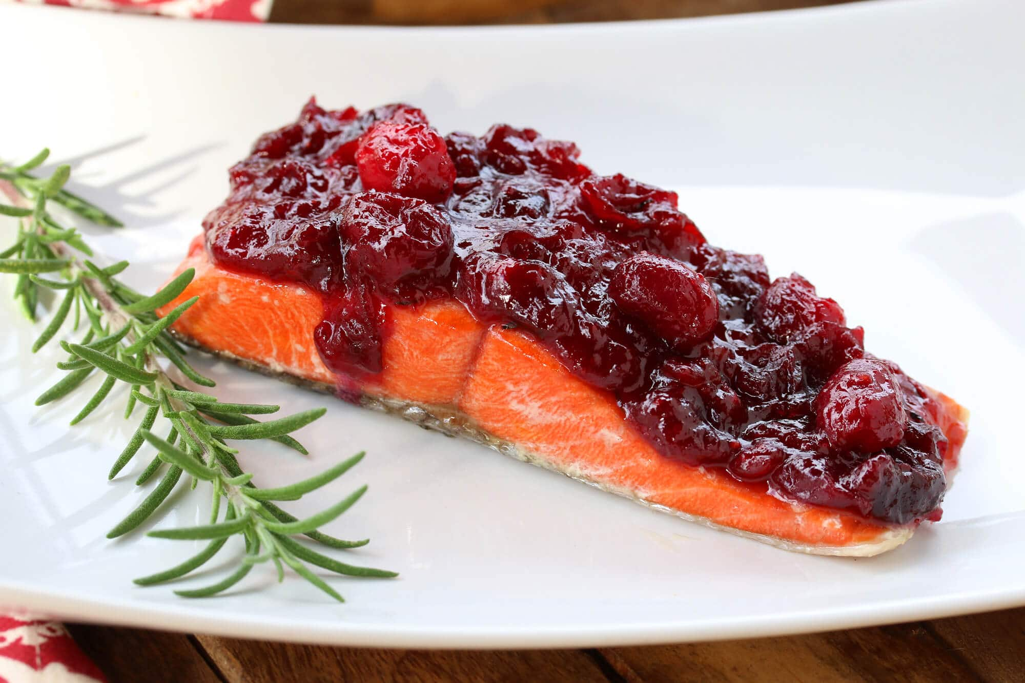 salmon recipe cranberry sauce mustard dijon herbs ginger christmas holidays thanksgiving recipe easy fast sous vide baked grilled broiled pan fried