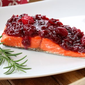 Salmon with Cranberry Ginger Mustard Sauce + Sous Vide & Slow Cooker Giveaway!