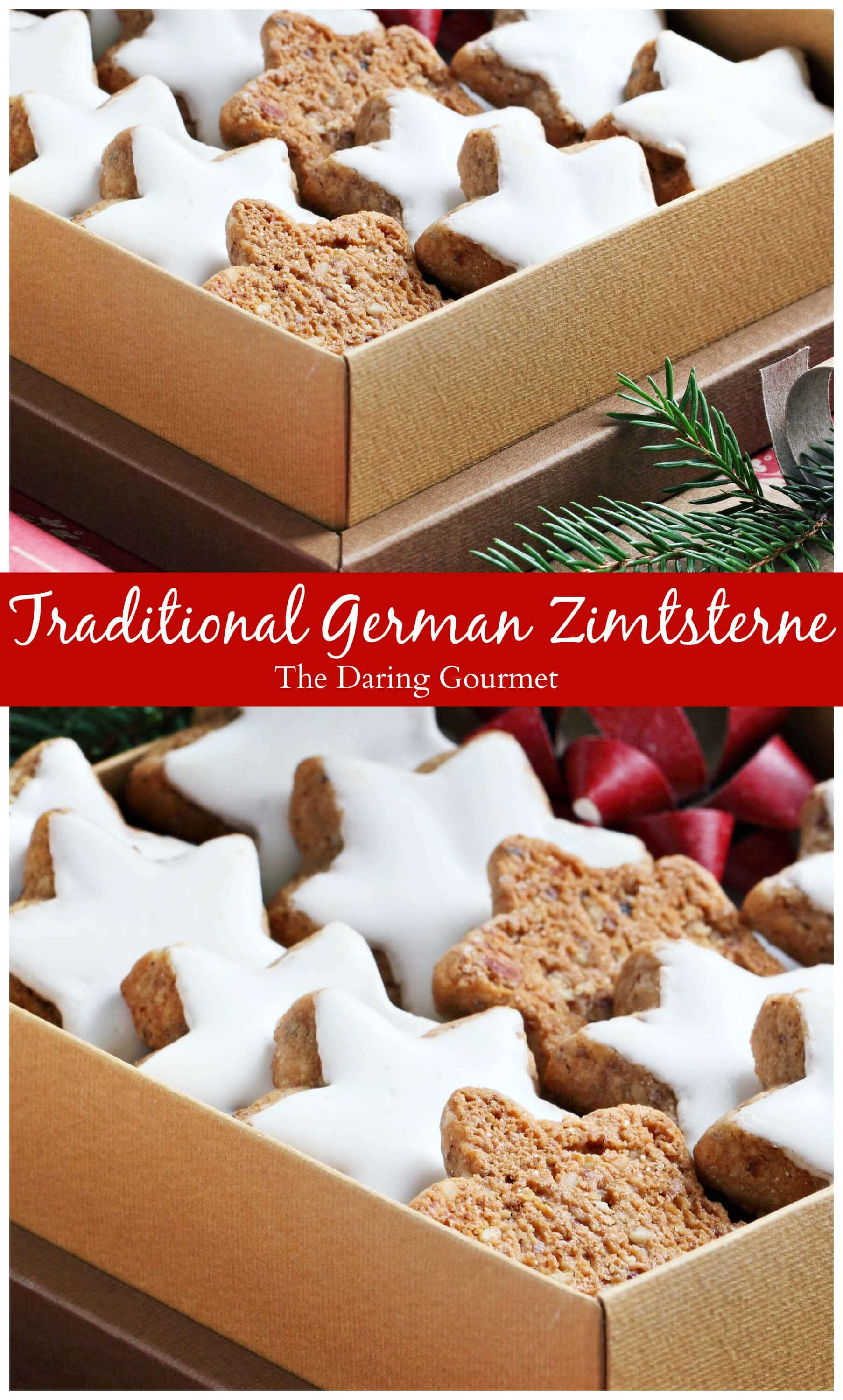 Authentic Zimtsterne German Cinnamon Star Cookies The Daring Gourmet