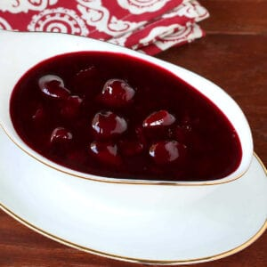 cherry sauce recipe dessert easy quick from scratch fresh frozen canned