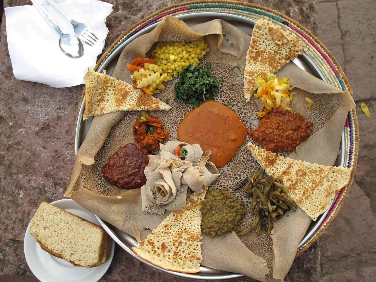 Authentic injera ethiopian flatbread the daring gourmet for Authentic ethiopian cuisine
