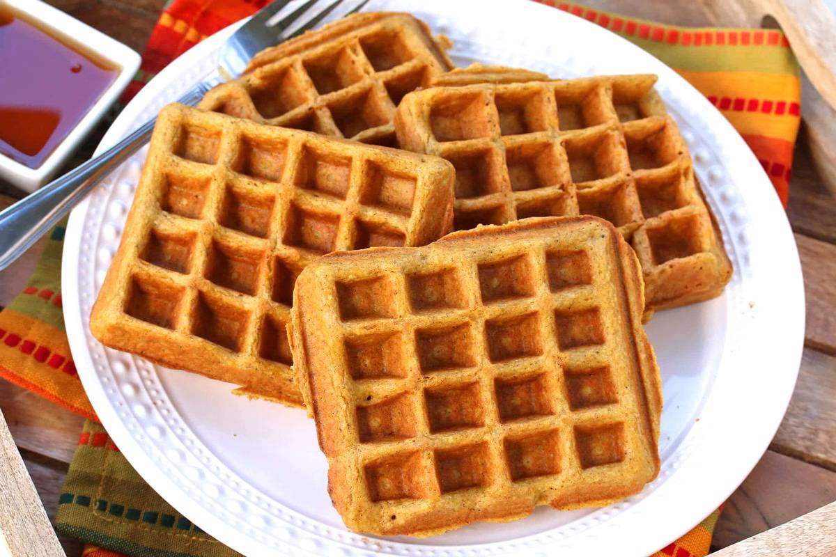 pumpkin waffles recipe gluten free whole grain oat
