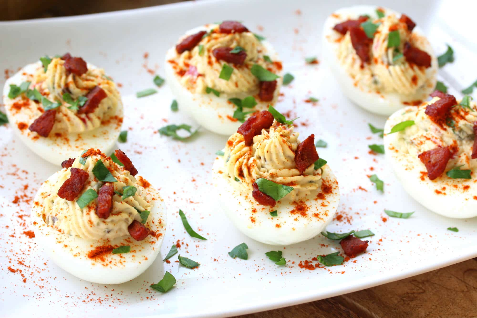deviled eggs recipe spanish chorizo olives capers pimientos paprika best gluten free paleo