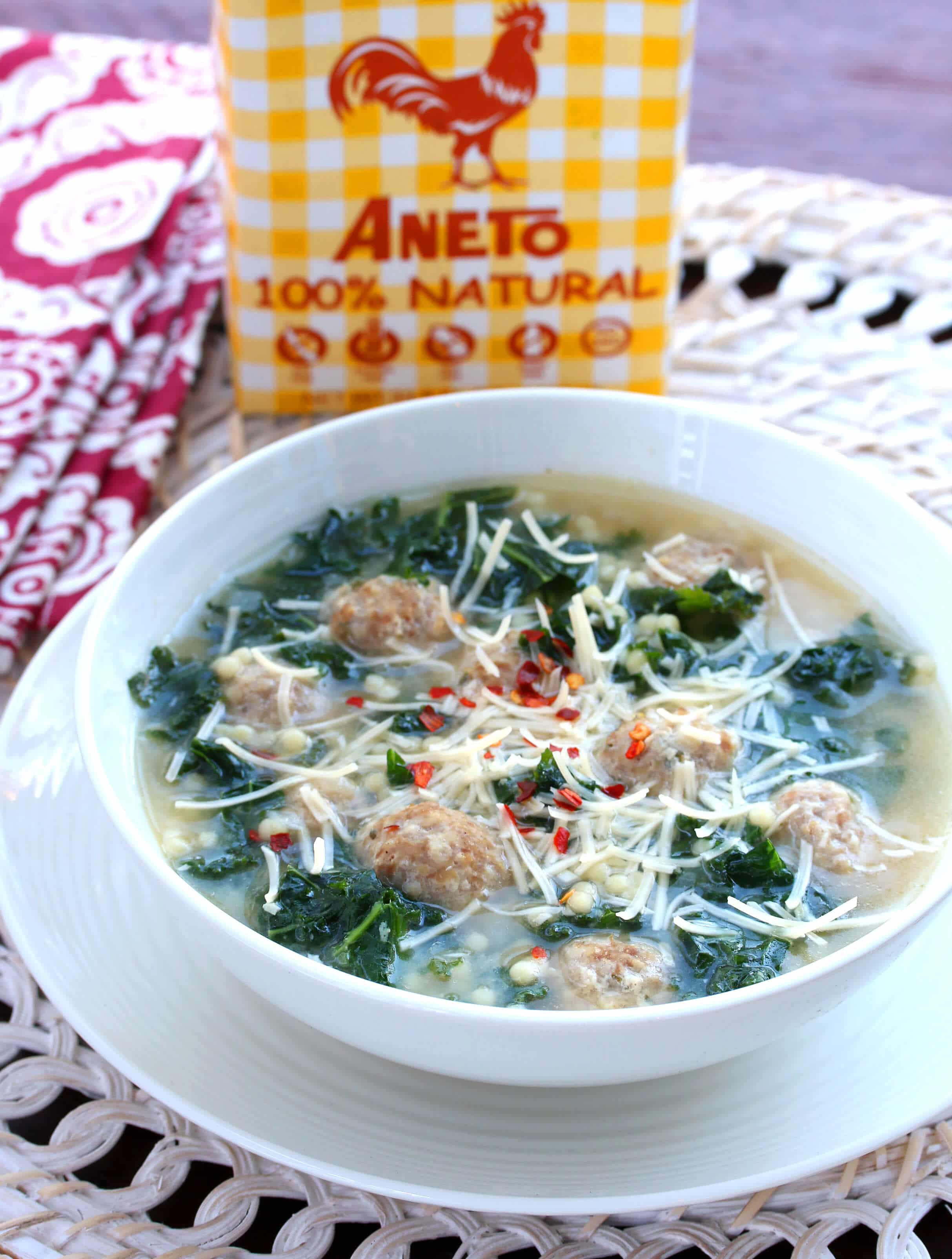 Italian wedding soup recipe best authentic traditional healthy aneto broth
