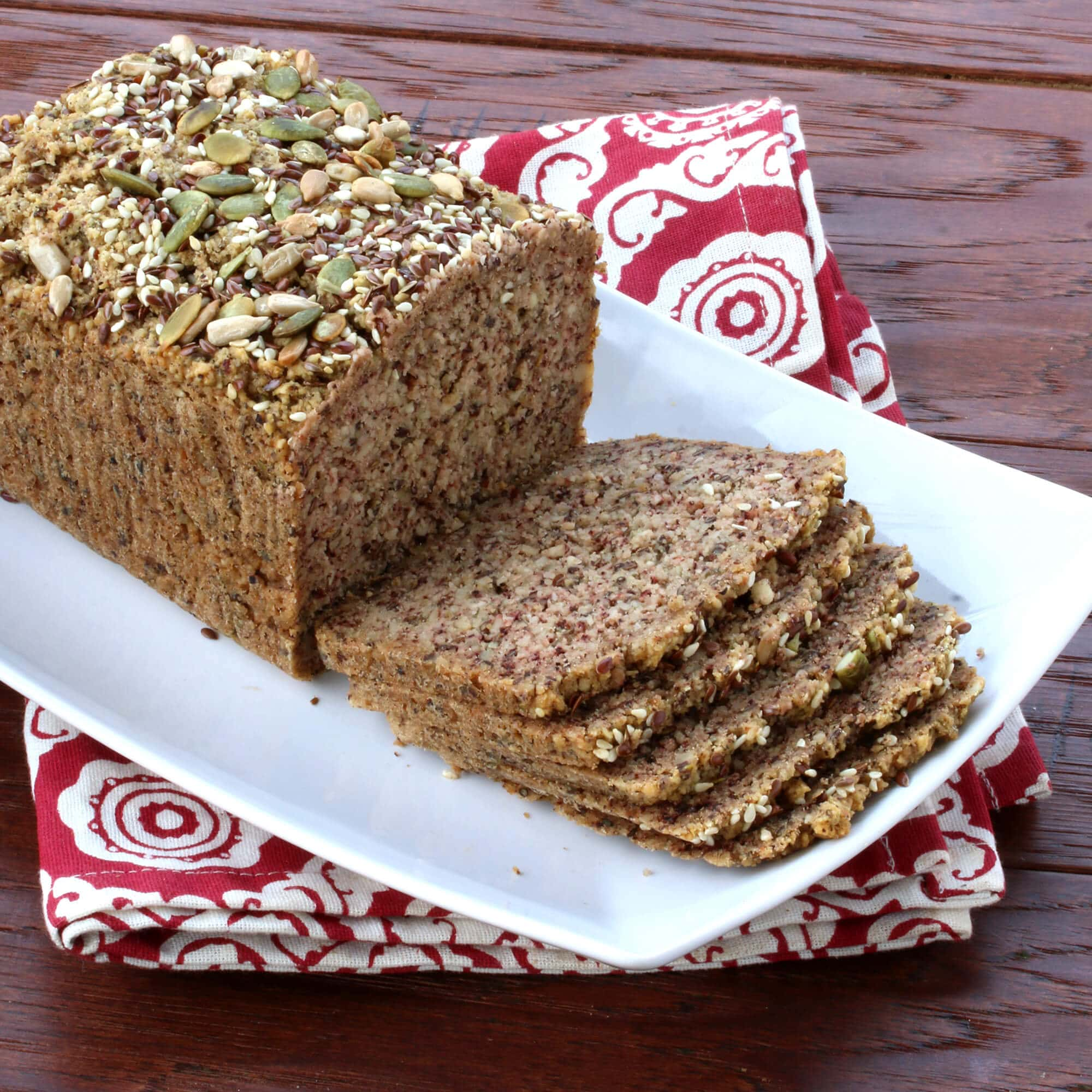 Low Carb High Protein Nut Seed Bread Paleo The Daring Gourmet Sq Chunky Bar White 100 Gr For An Extra Boost Of I Added Nearly A Cup Silks New Milk To This Its Soy Free And Each Serving Has 10 Grams