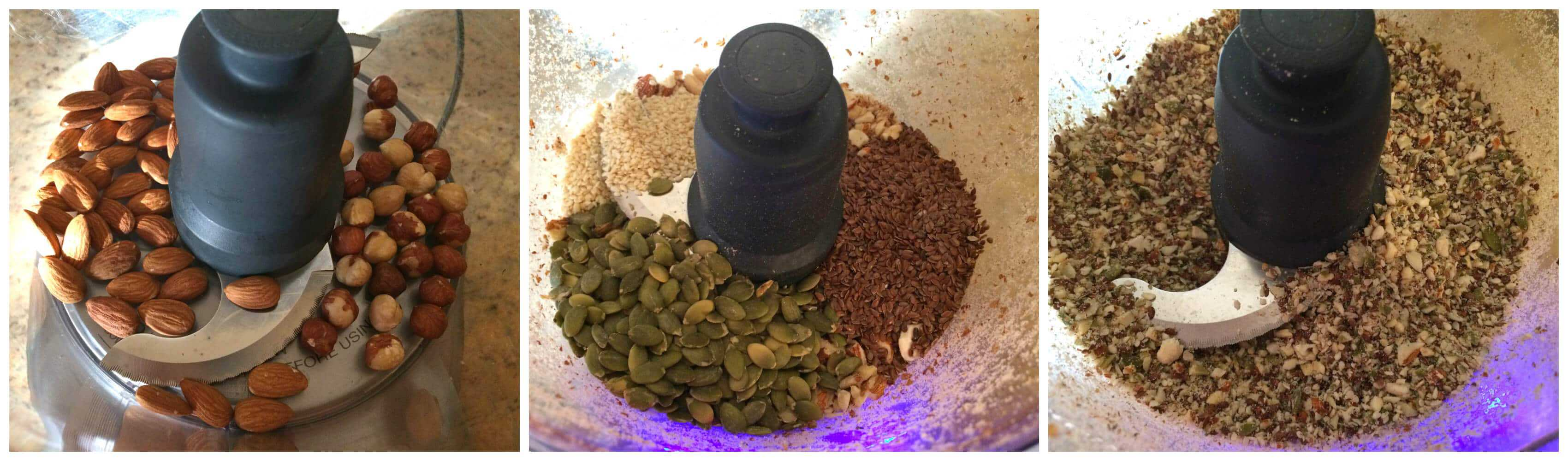 grinding nuts and seeds in food processor