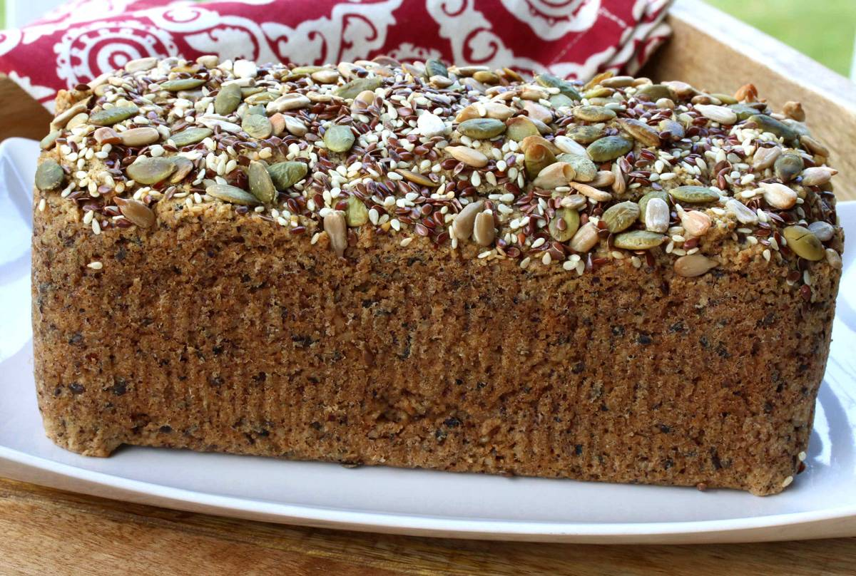 paleo bread recipe gluten free nut seed healthy vegan non dairy easy