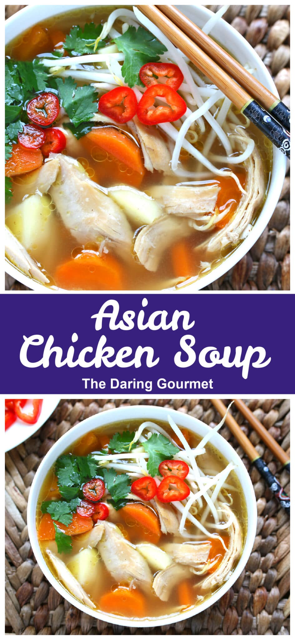 Asian chicken soup recipe Chinese Indonesian vegetables spices spiced lemongrass healthy gluten free