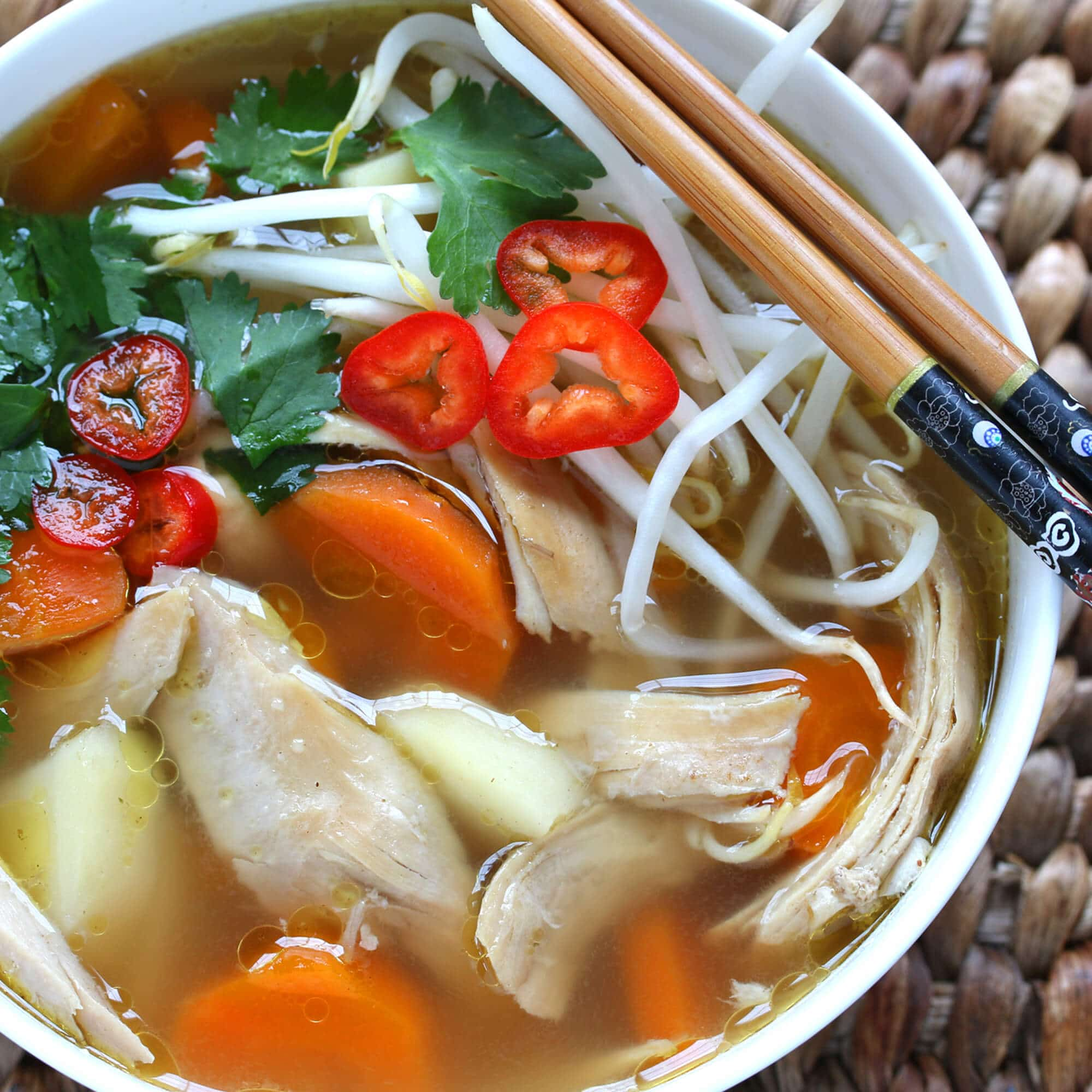 Asian-Spiced Chicken & Vegetable Soup