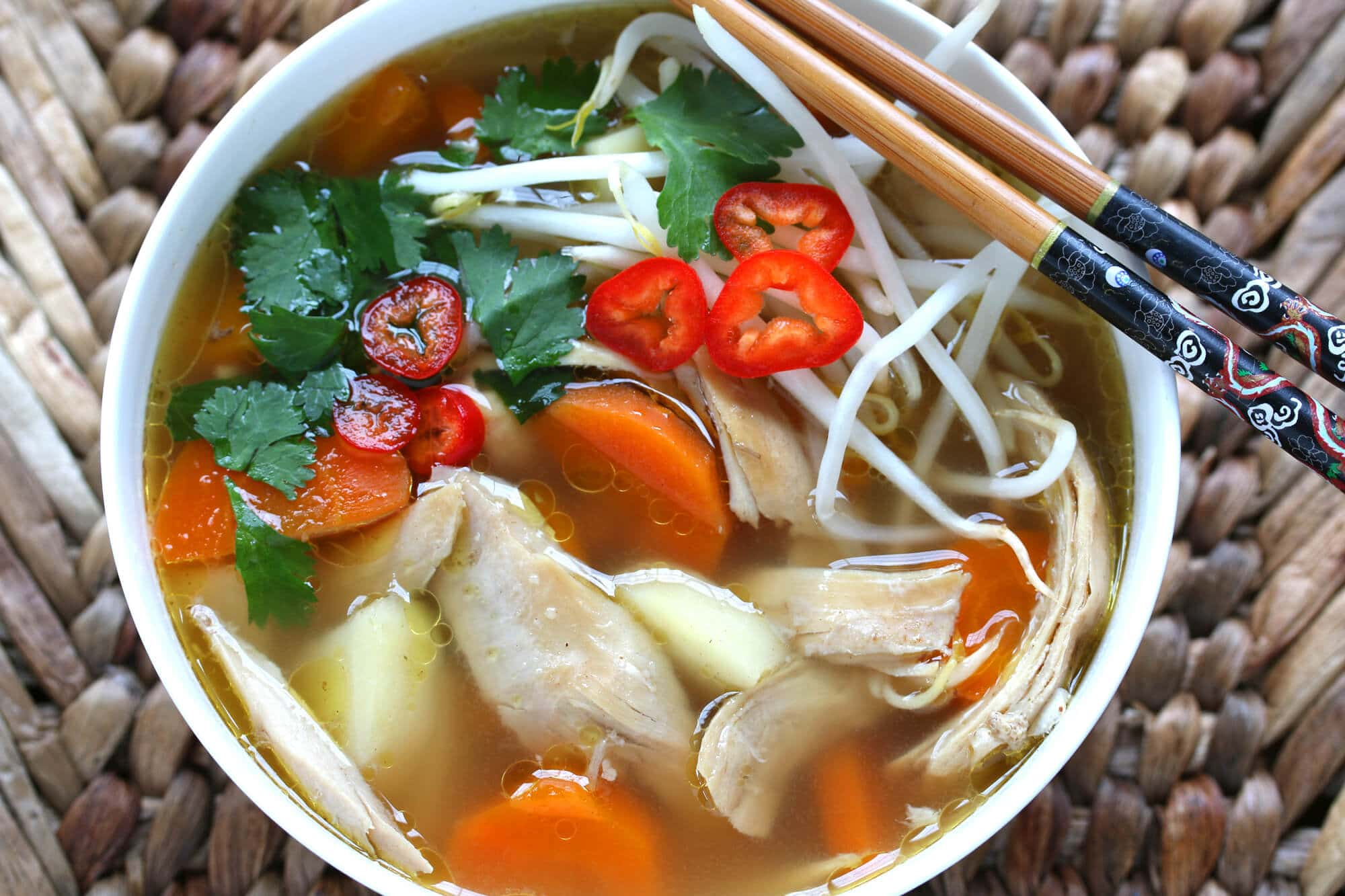 asian spiced chicken vegetable soup recipe chinese indonesian thai malaysian star anise fennel cinnamon cardamom cloves lemongrass aneto broth