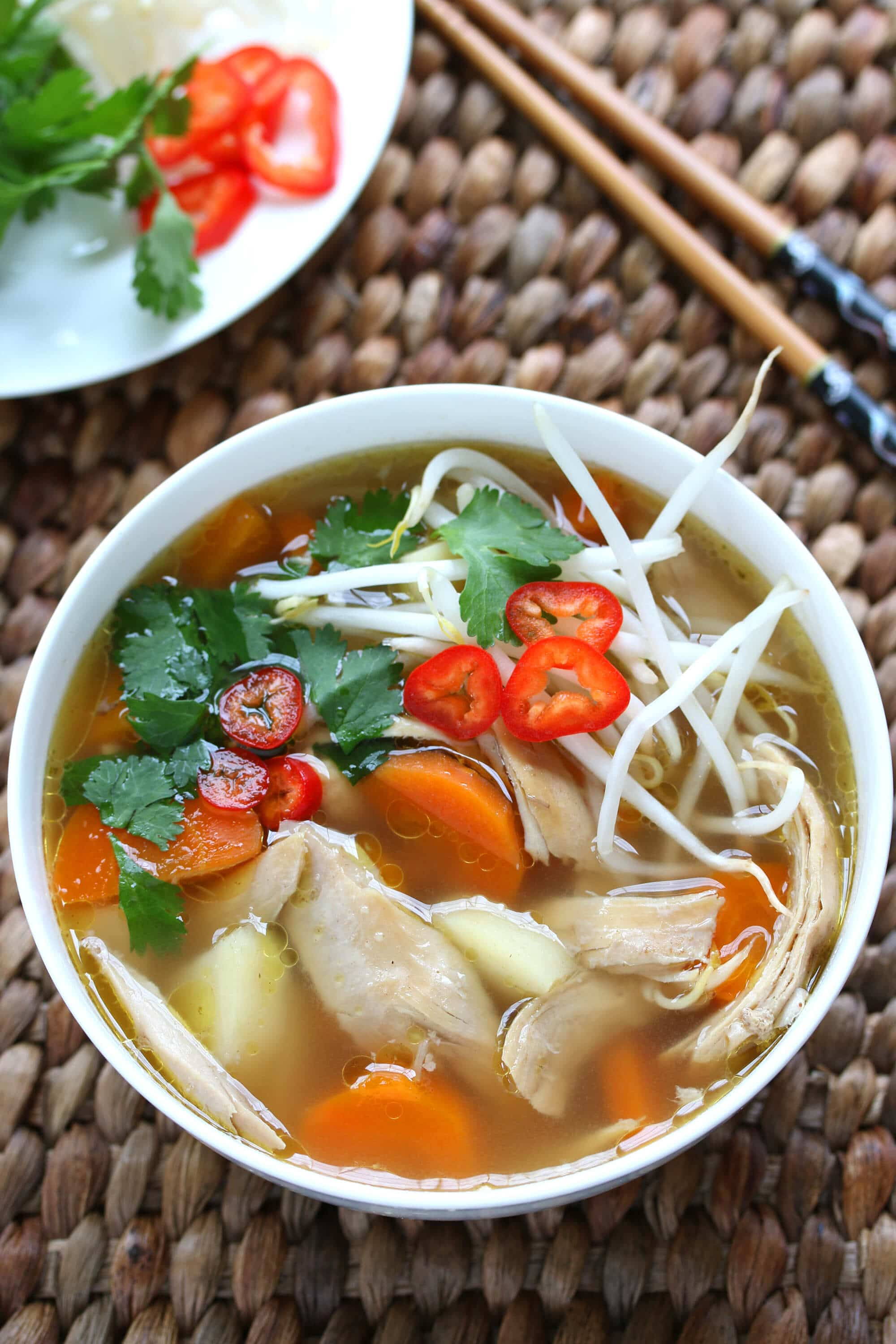 asian spiced chicken vegetable soup recipe chinese indonesian thai  malaysian star anise fennel cinnamon cardamom cloves