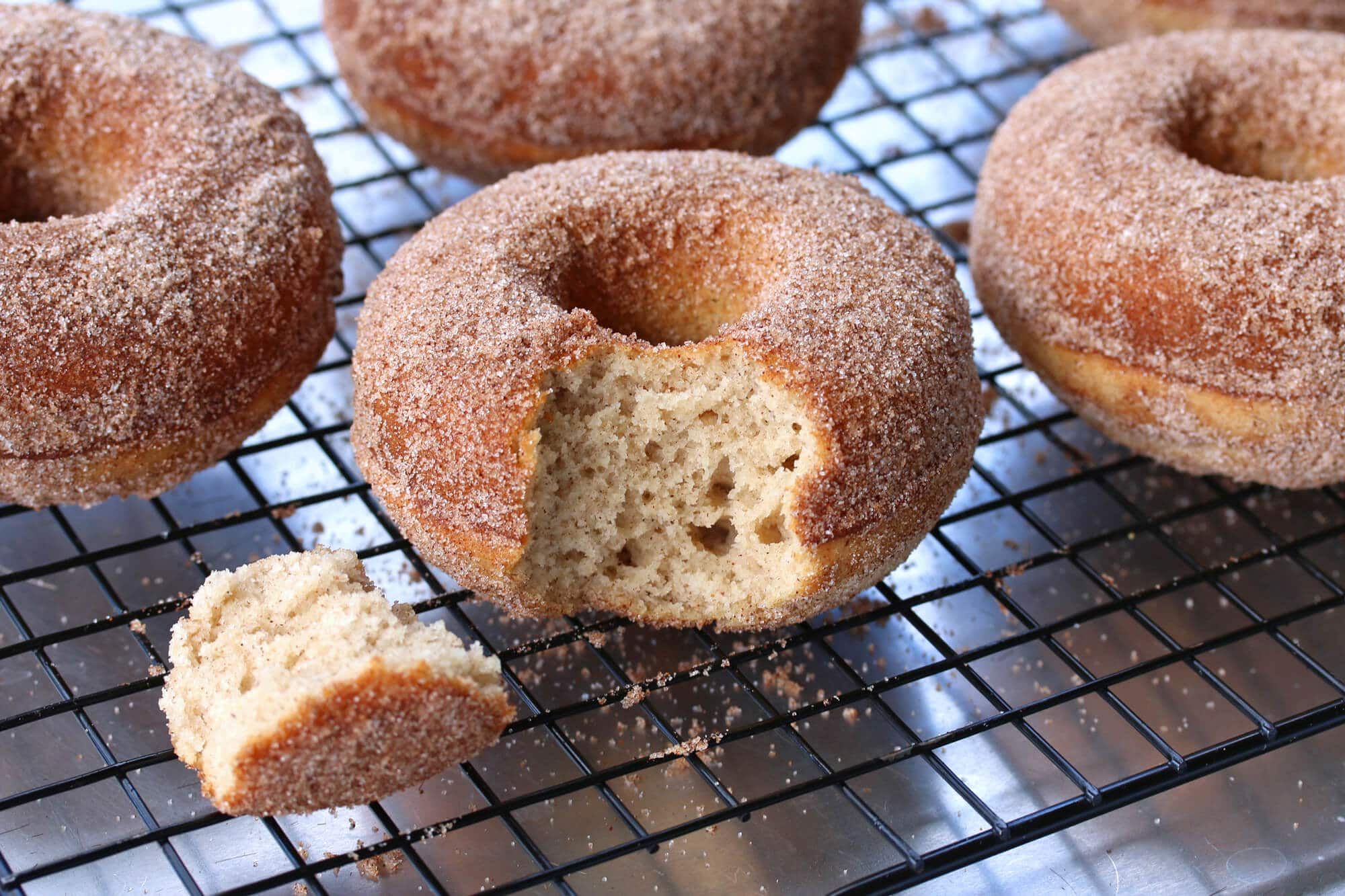 gluten free cinnamon sugar donuts doughnuts recipe baked oven