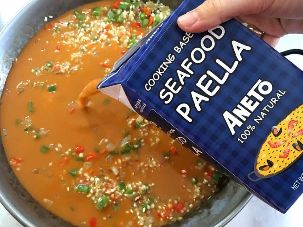 seafood paella cooking base