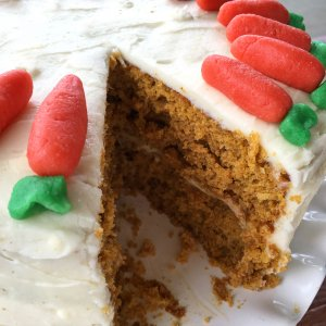 Best Gluten Free Carrot Cake (with Marzipan Carrots)