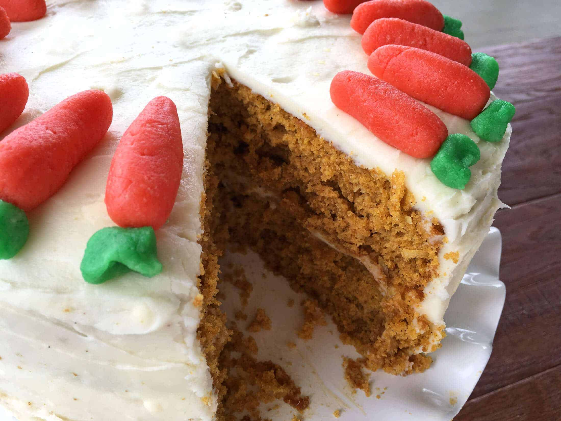 how to make marzipan carrot cake decorations