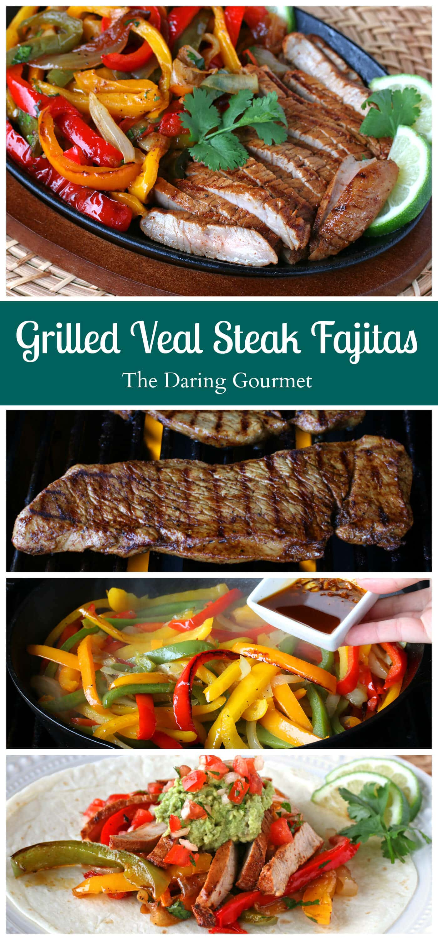 best grilled steak fajitas mexican recipe veal beef chicken pork lamb grilling barbecue bbq