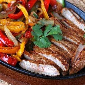 Grilled Veal Steak Fajitas