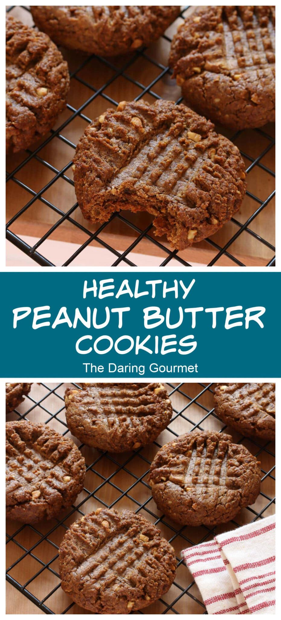 healthy peanut butter cookies recipe 3 ingredients coconut sugar oil