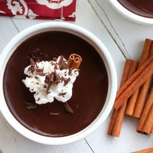 Easy Mexican Chocolate Pots de Crème
