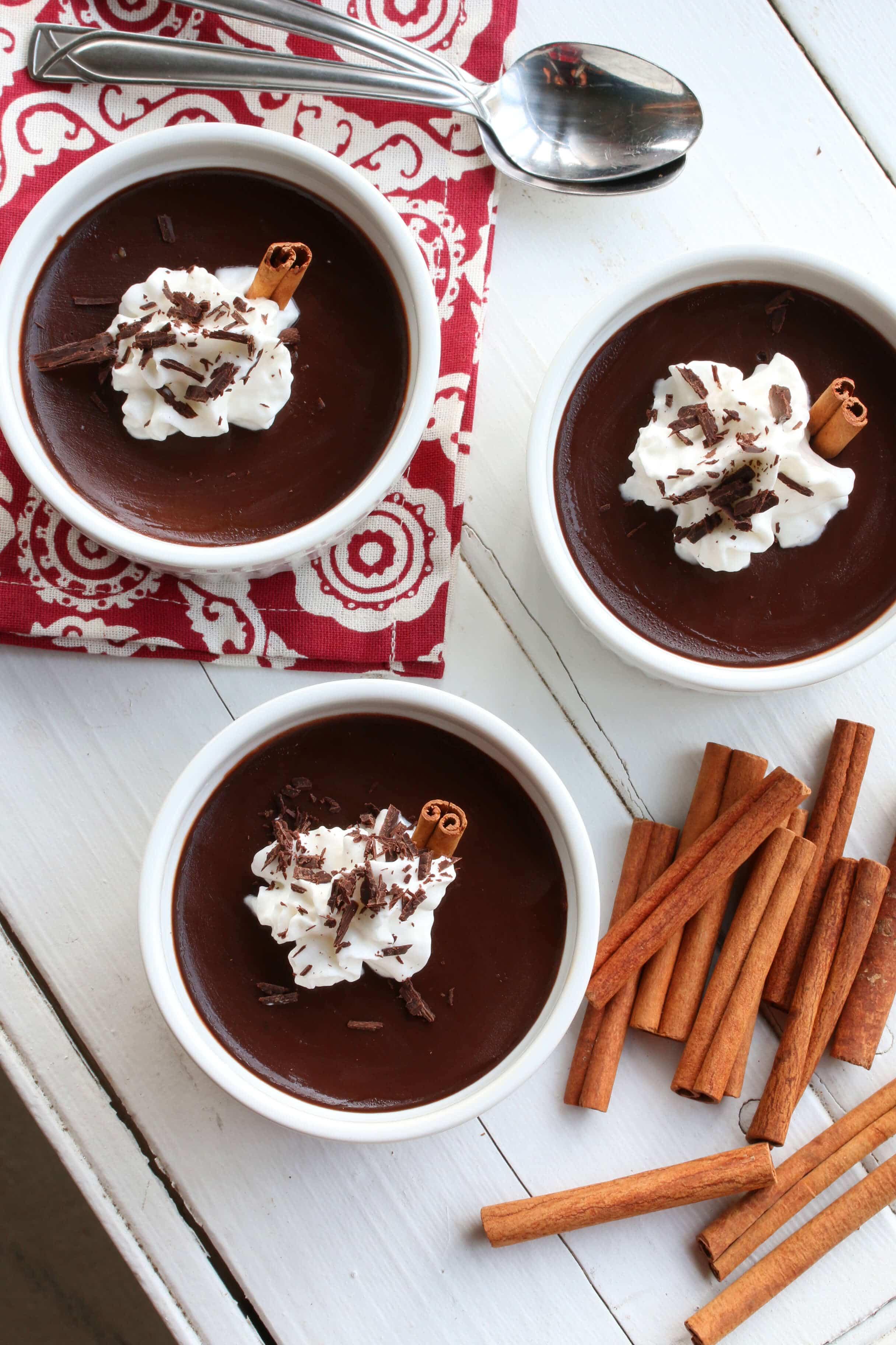 Easy Mexican Chocolate Pots de Crème - The Daring Gourmet