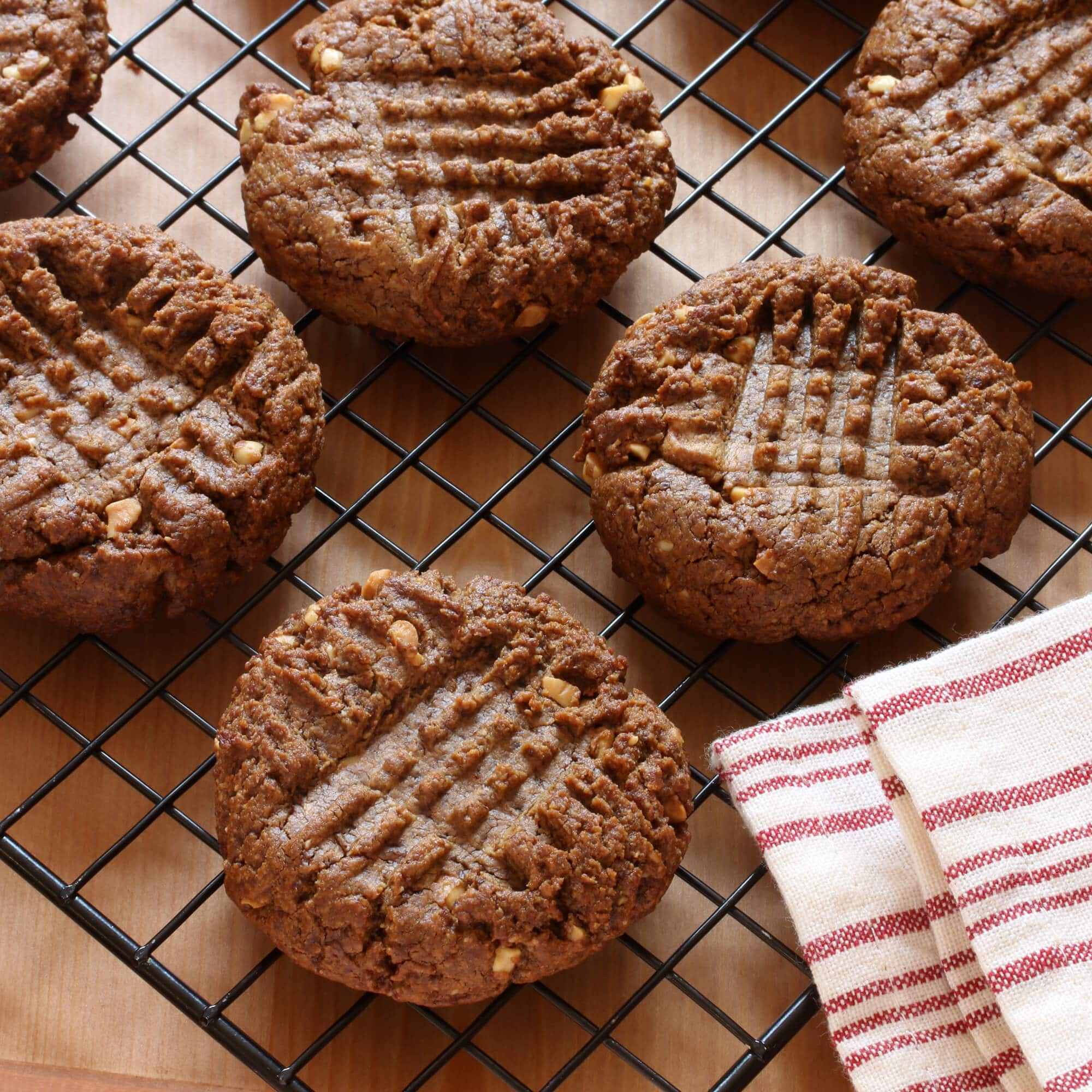 healthy peanut butter cookies recipe gluten free paleo vegan coconut sugar natural