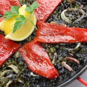 Squid Ink Paella (Arròs Negre/Arroz Negro)