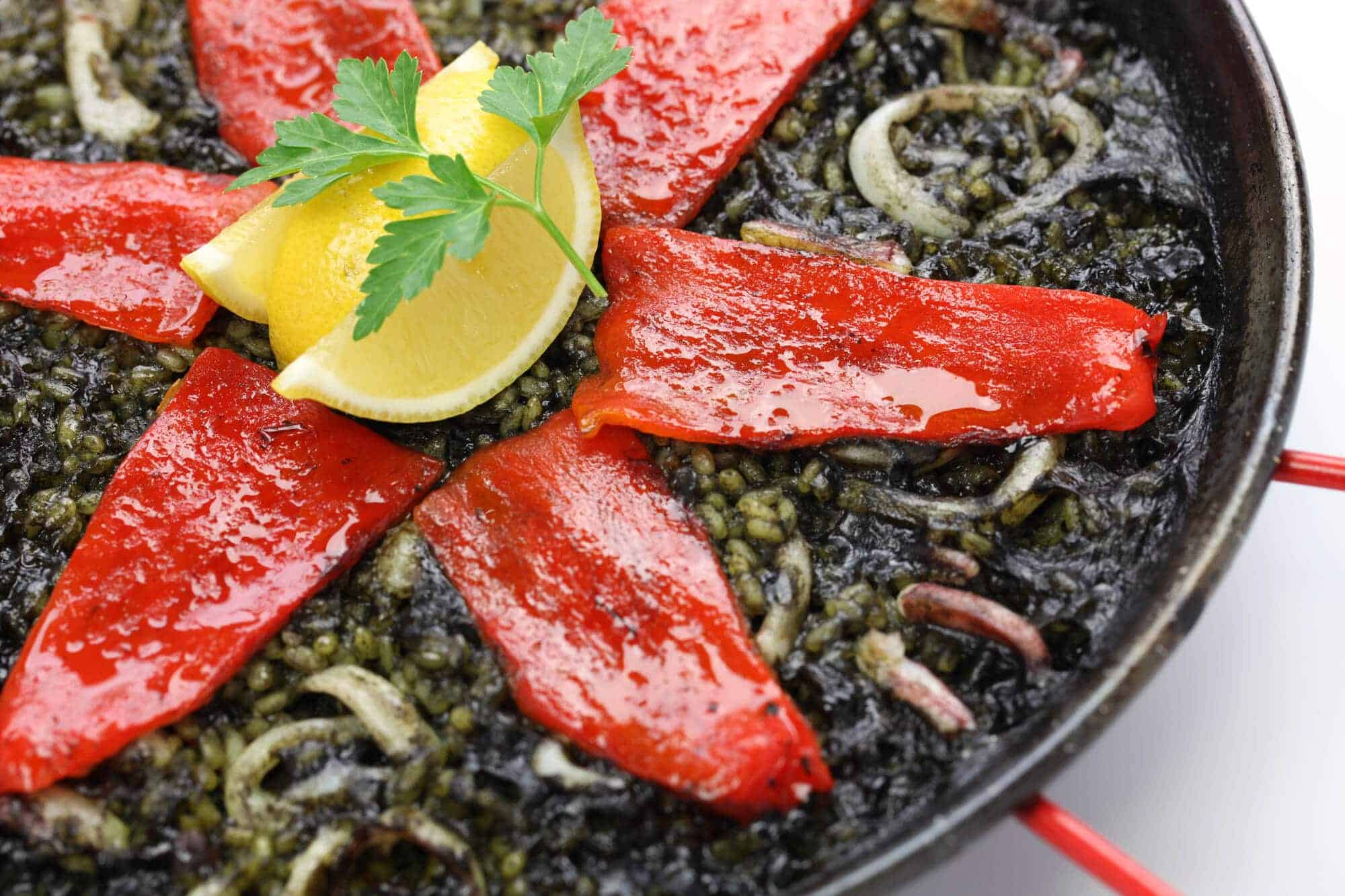 squid ink paella black rice arroz negro arros negre spanish recipe puerto rican cuban