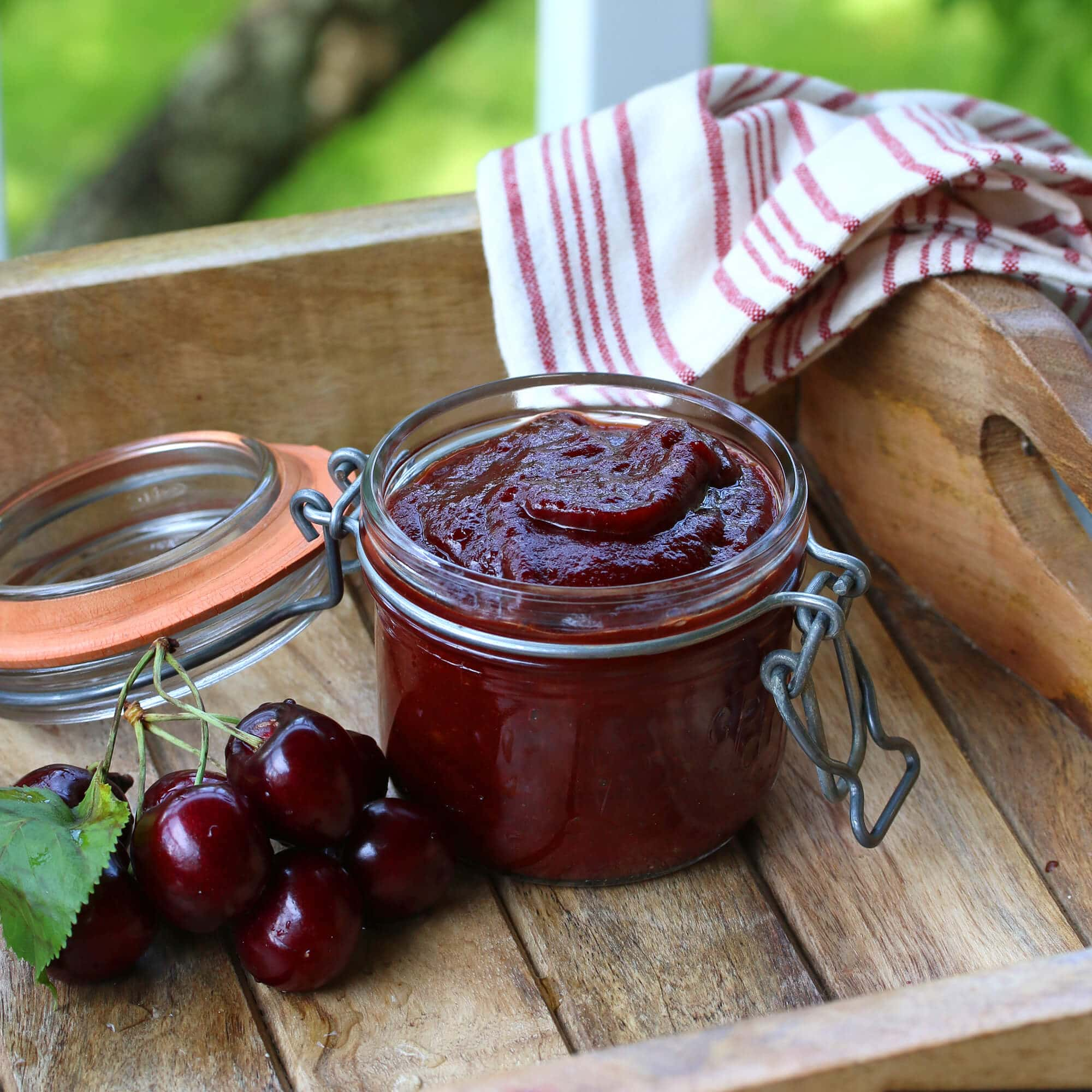 cherry barbecue bbq steak sauce recipe cherries homemade condiment grilling