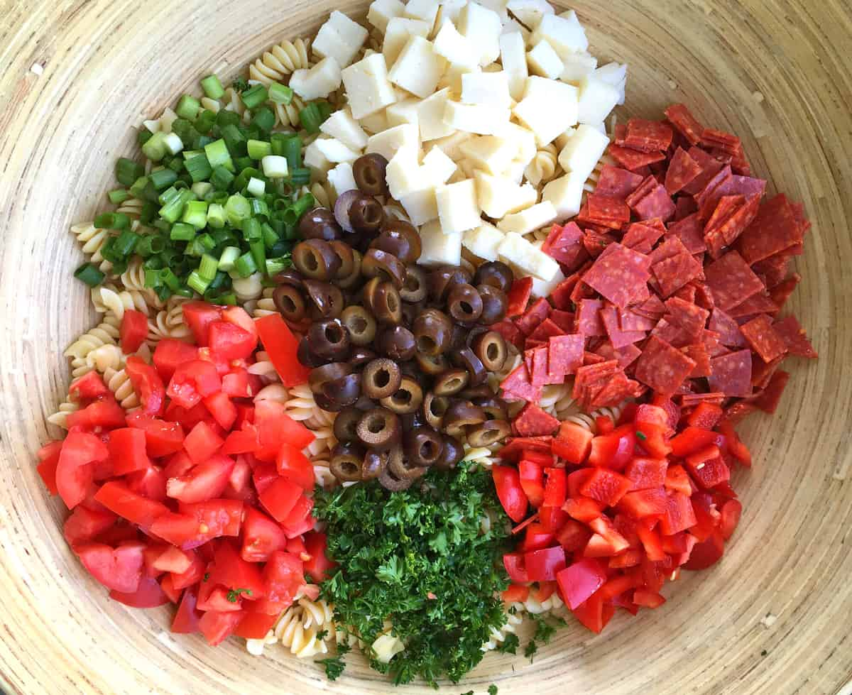 combining ingredients in a bowl