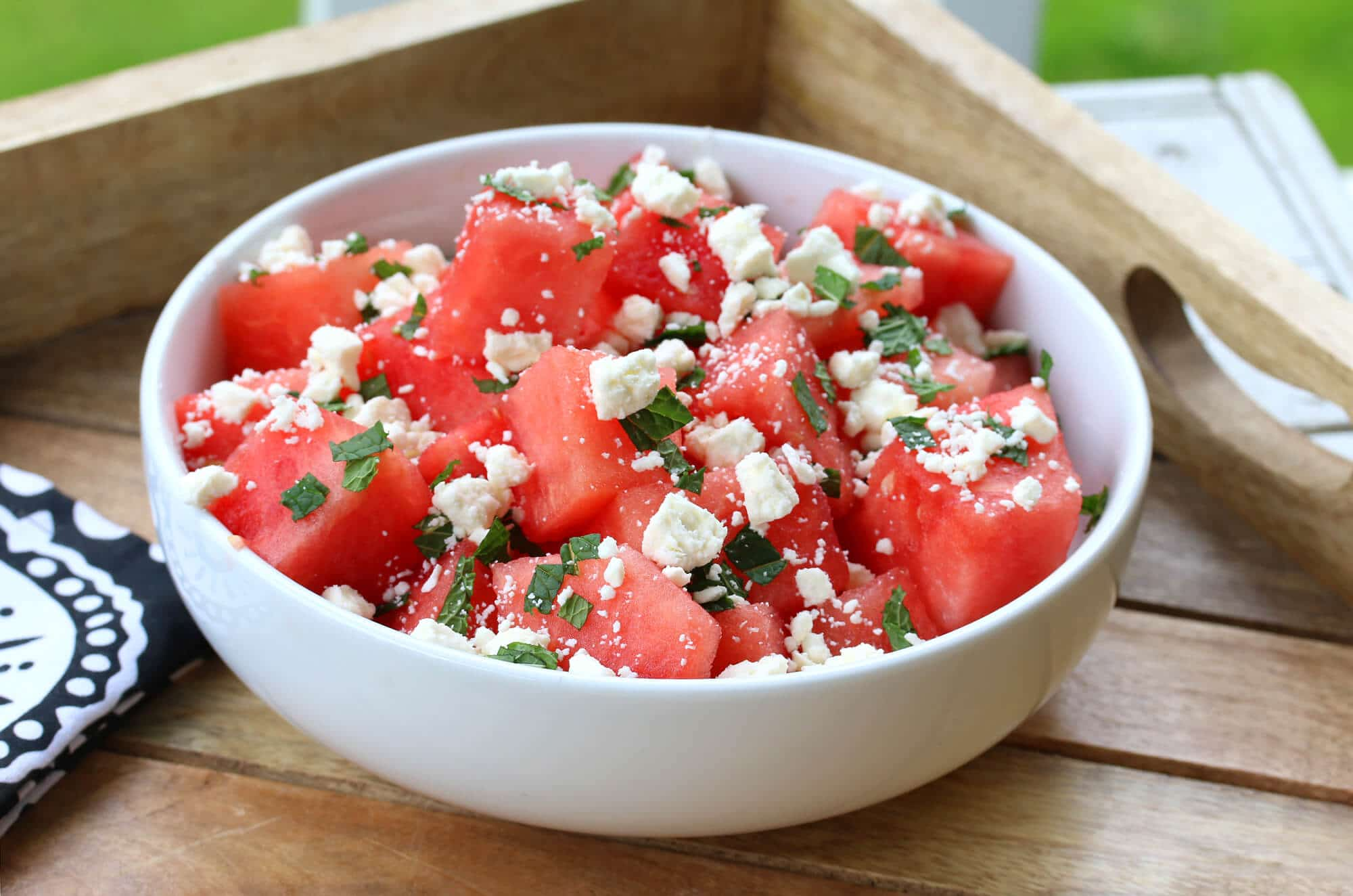 watermelon salad recipe mint feta lime lemon citrus