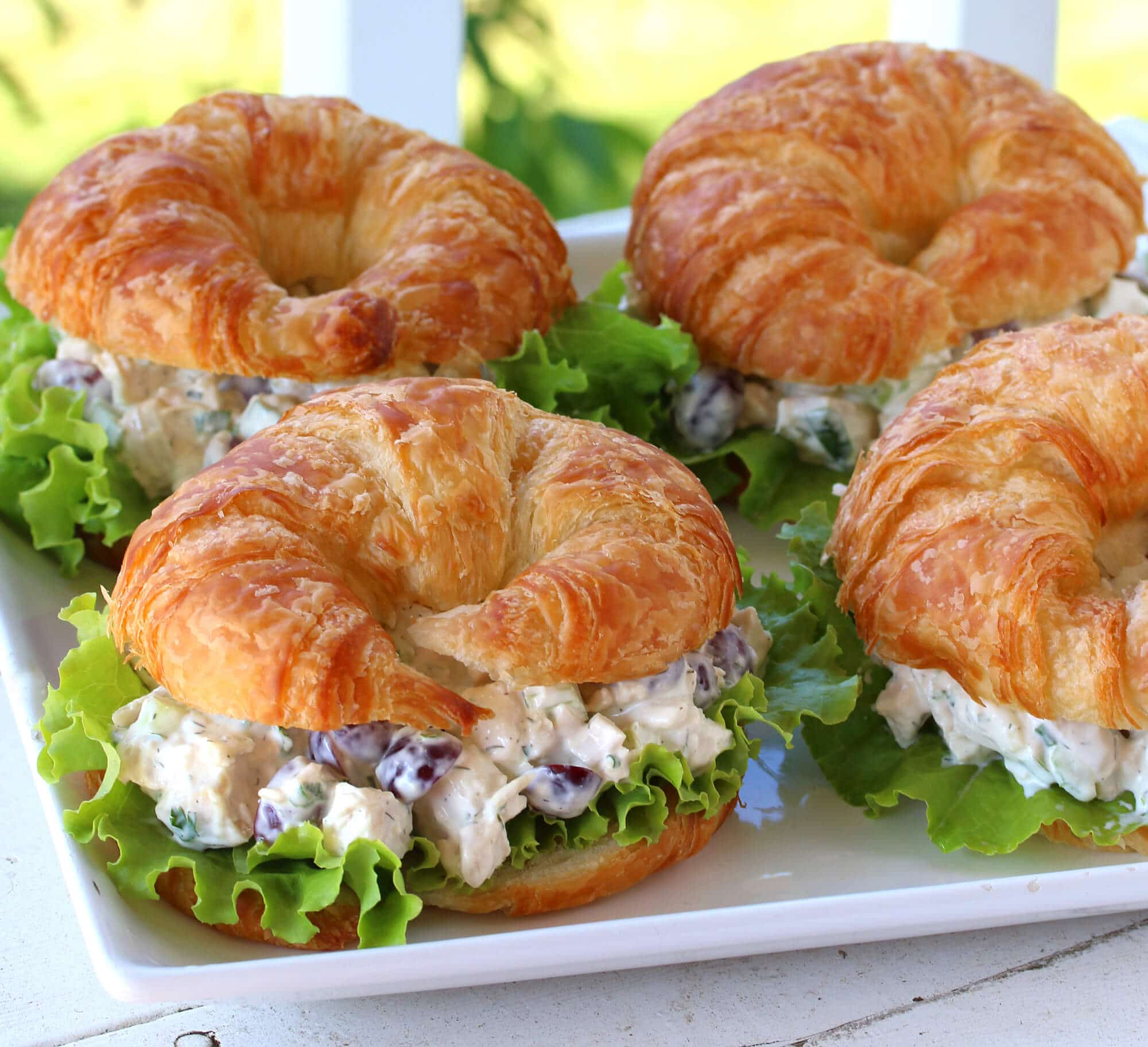chicken salad recipe best deli style croissants sandwiches