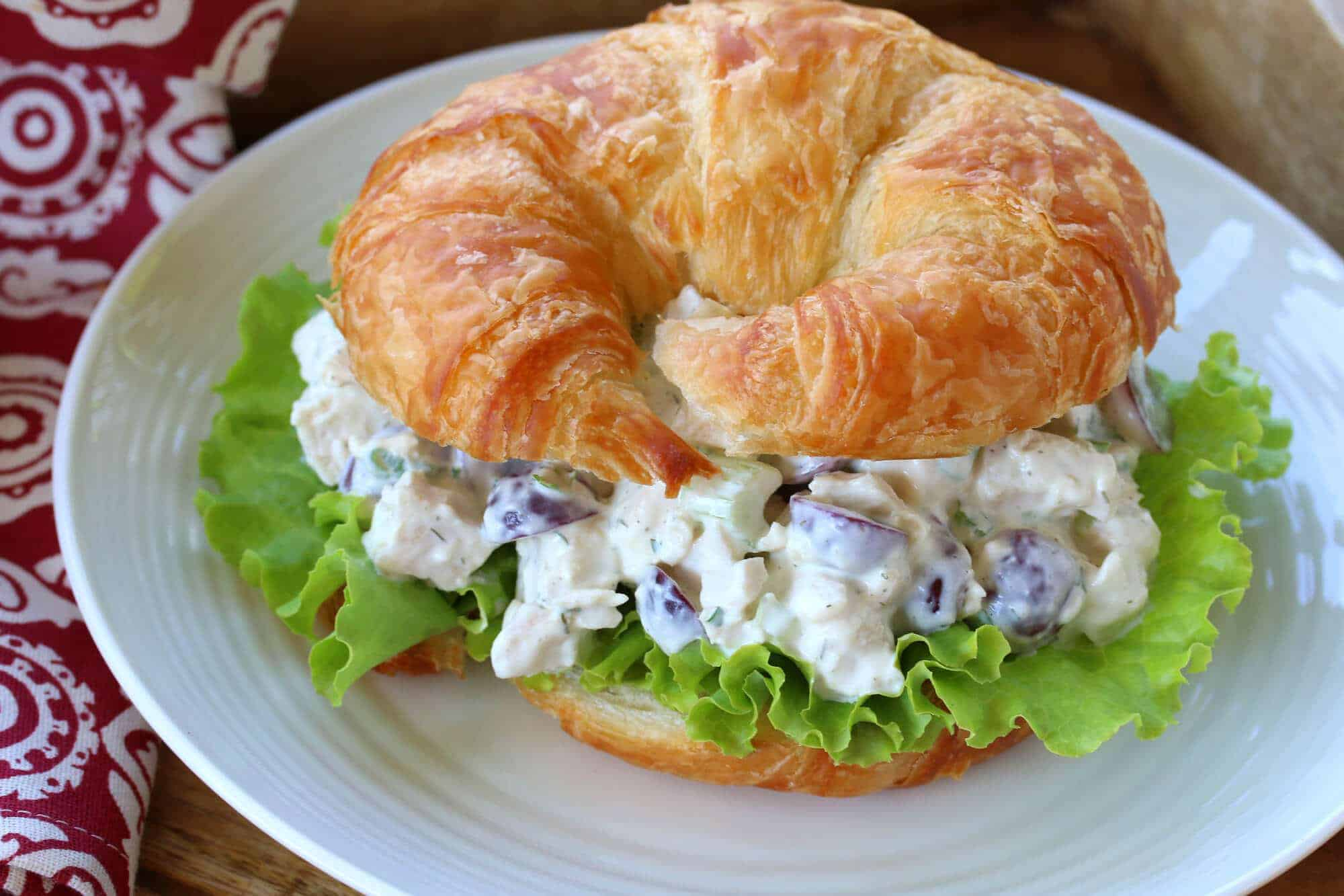 chicken salad recipe best homemade ultimate deli style croissants sandwiches