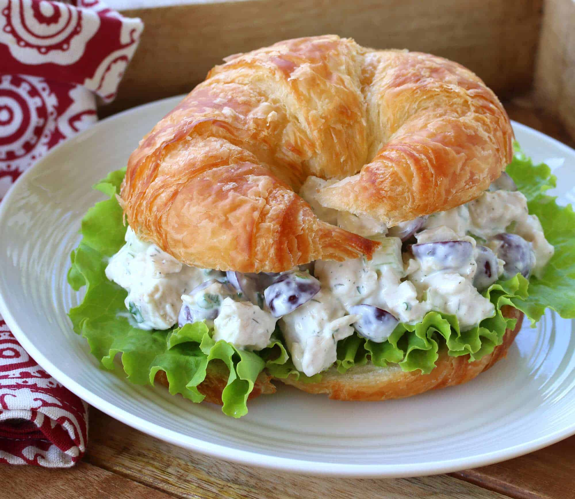 chicken salad recipe best croissants sandwiches deli style