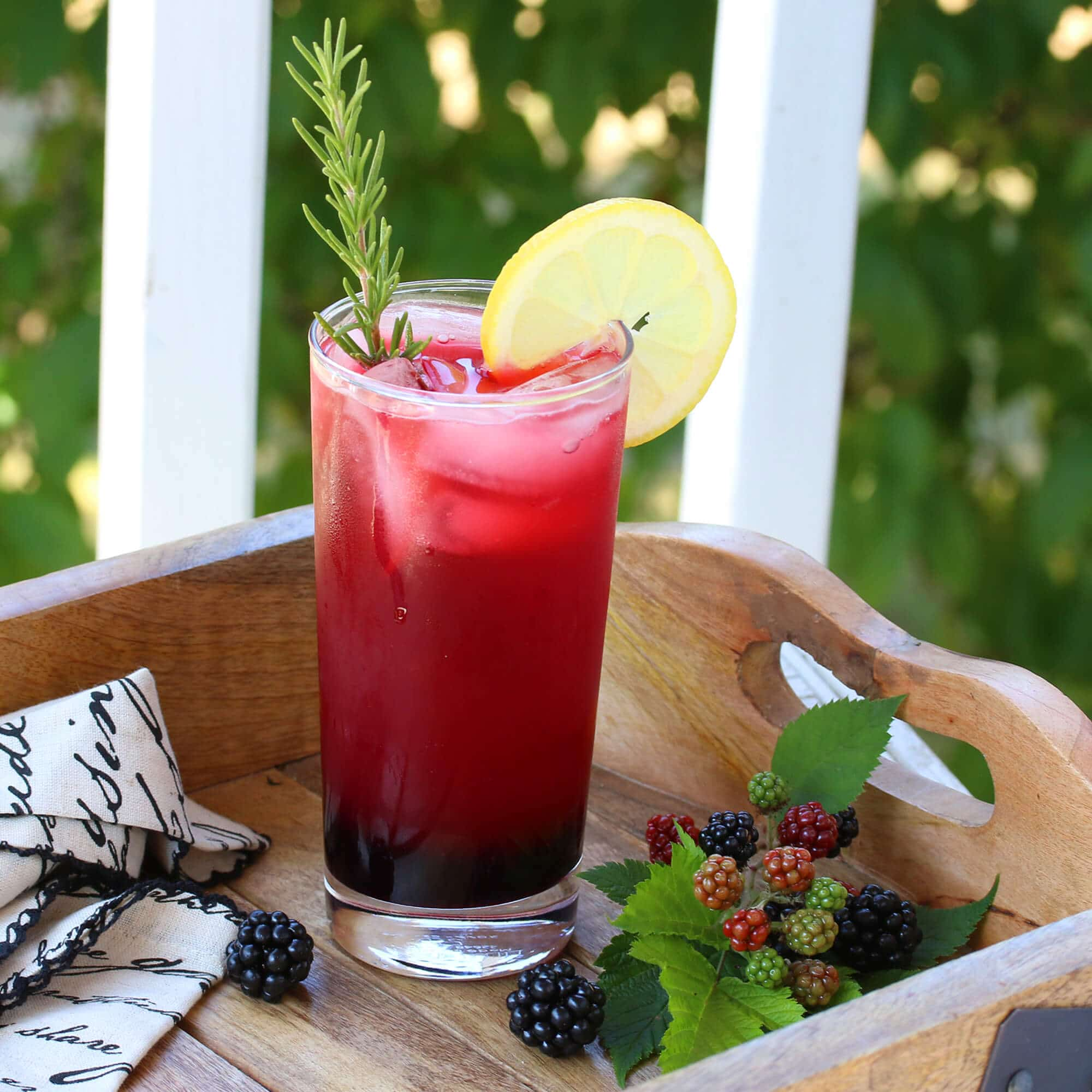 lemon blackberry spritzer recipe rosemary virgin mocktail non alcoholic no alcohol
