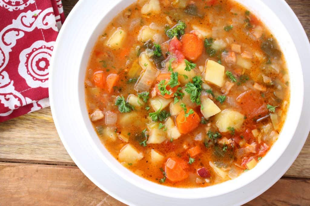 german potato soup recipe authentic traditional bacon leek celeriac best swabian brothy