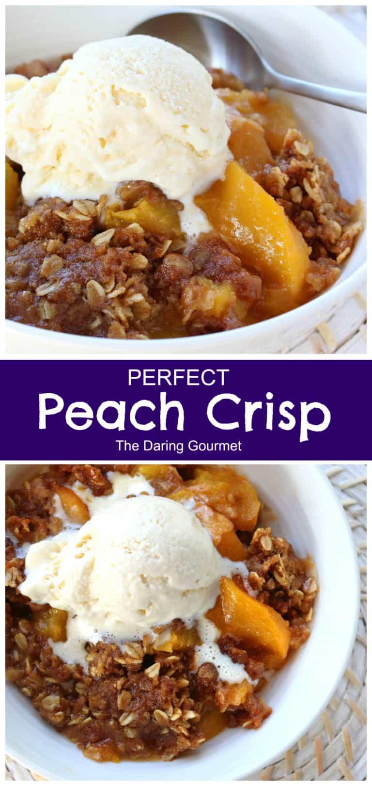 peach crisp recipe best homemade slow cooker crock pot oven