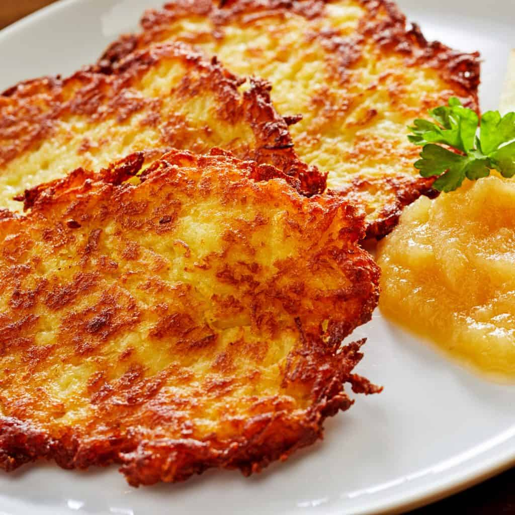 kartoffelpuffer german potato pancakes recipe reibekuchen authentic traditional applesauce sweet savory rosti