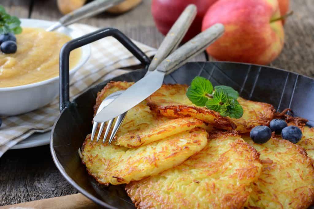 Traditional Kartoffelpuffer German Potato Pancakes The