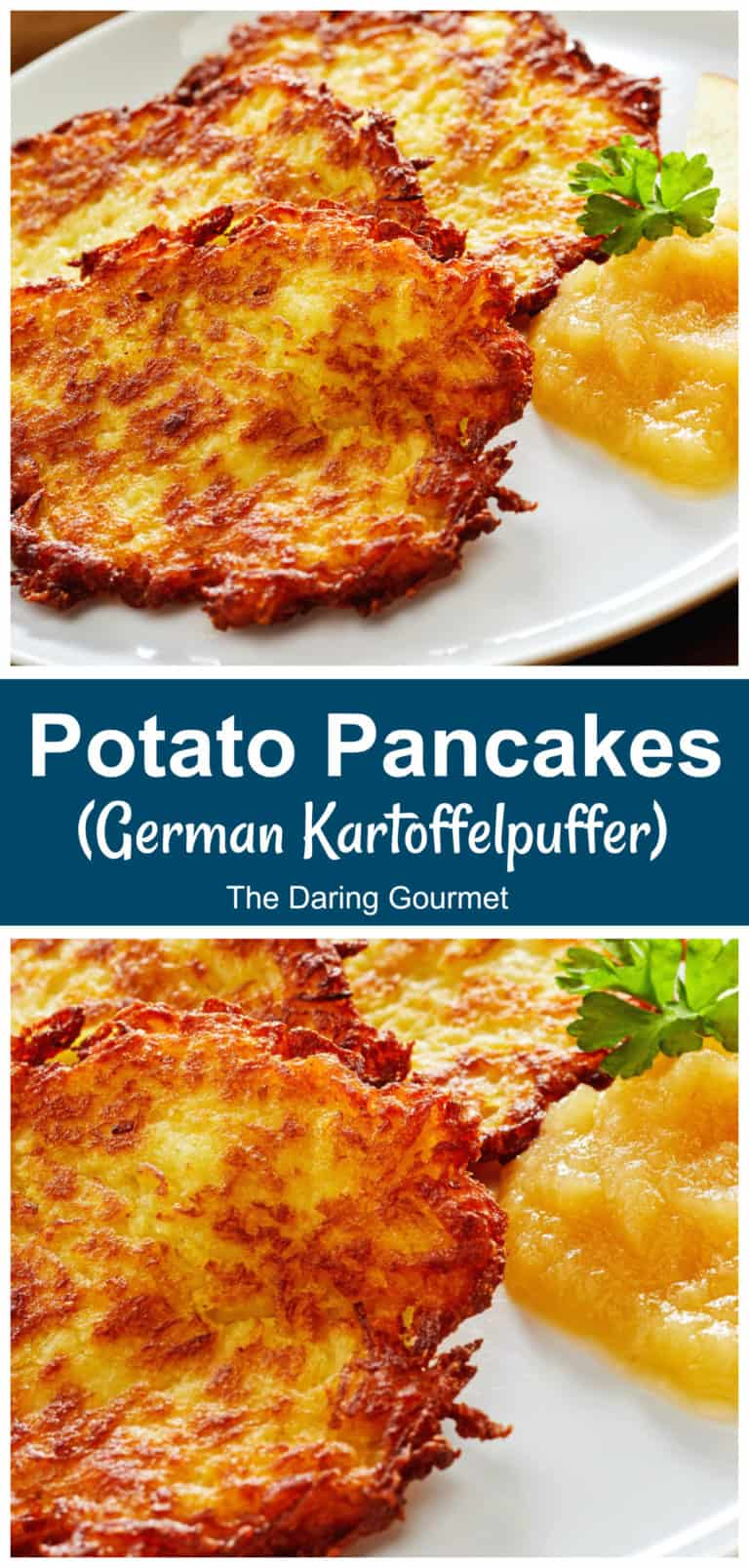 potato pancakes recipe German kartoffelpuffer rosti