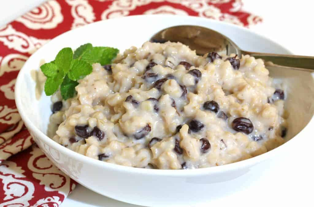 Scottish barley pudding the daring gourmet scottish barley pudding recipe traditional authentic currants raisins cream scotland breakfast dessert forumfinder