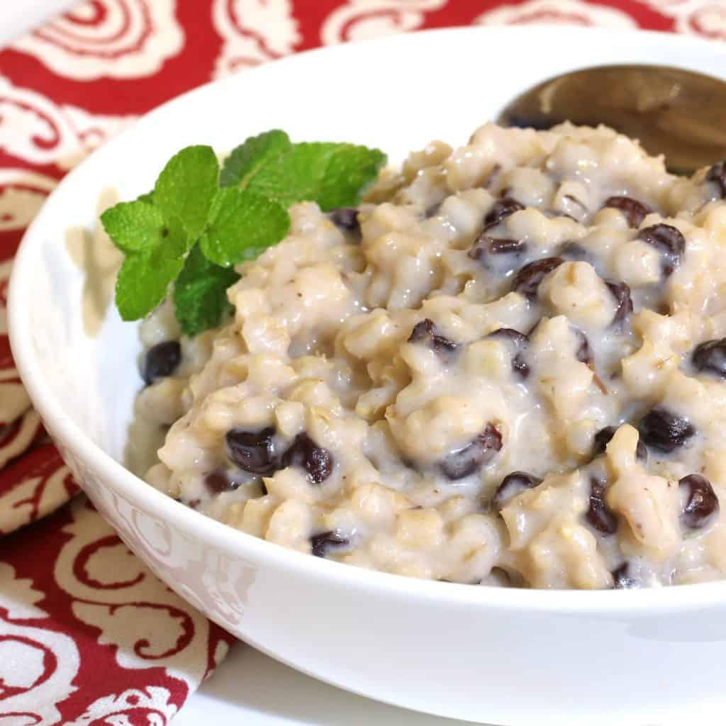 scottish barley pudding recipe traditional authentic currants raisins cream scotland breakfast dessert