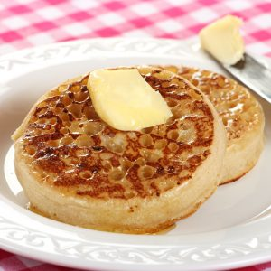 Traditional Homemade English Crumpets