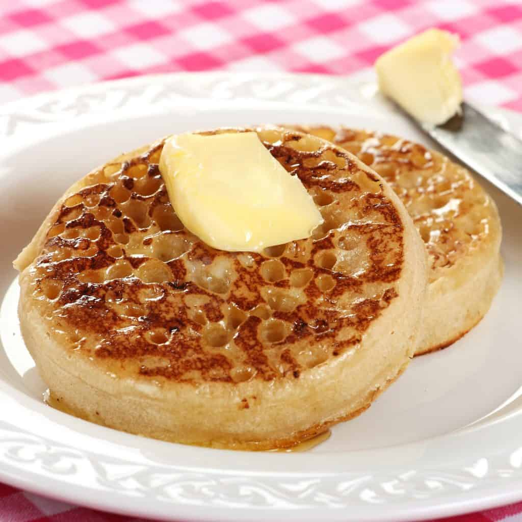 crumpets recipe English British traditional authentic homemade yeast