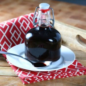 Homemade Elderberry Syrup (for coughs, colds and flu)