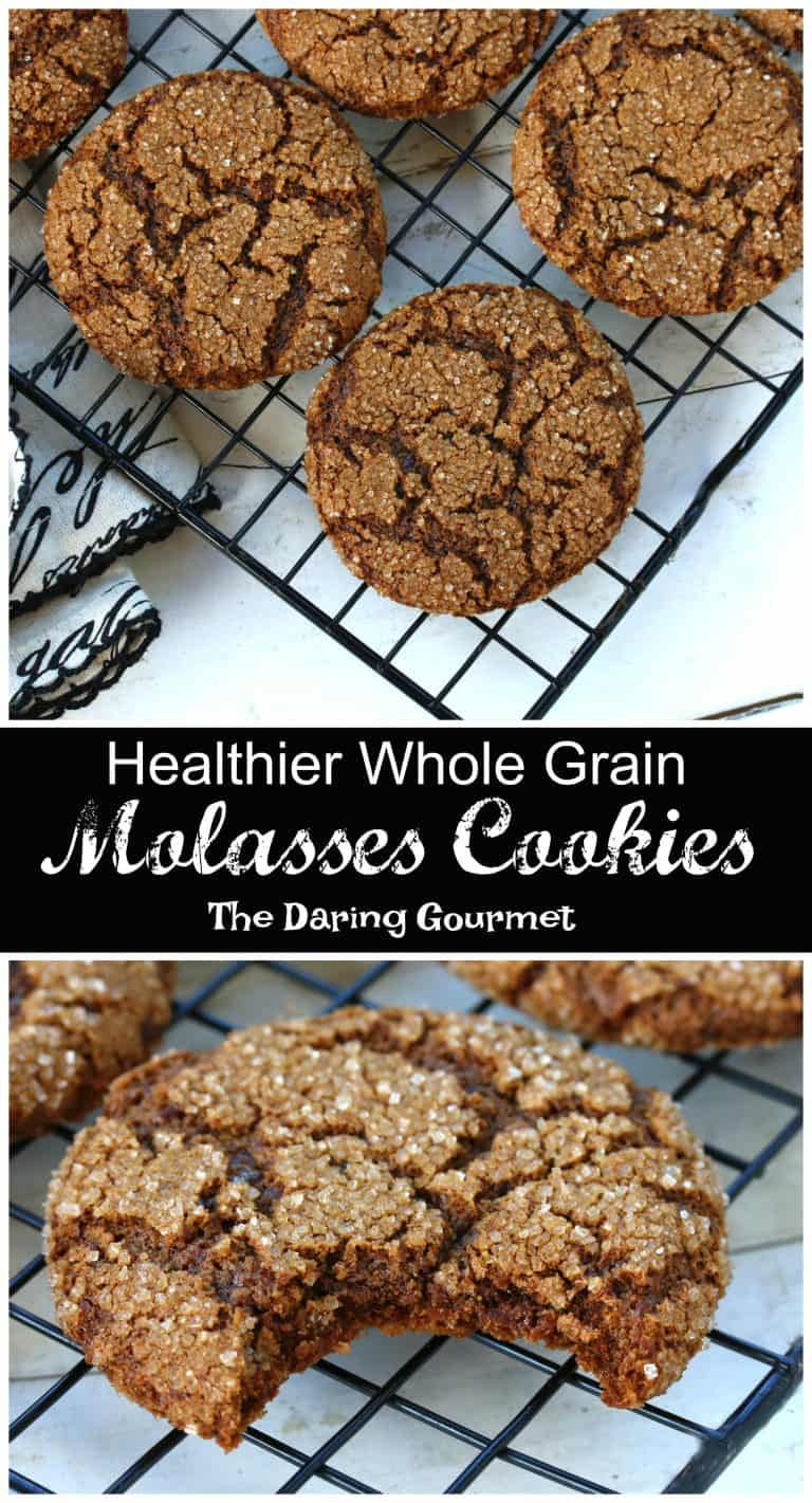 whole grain wheat molasses cookies recipe healthy