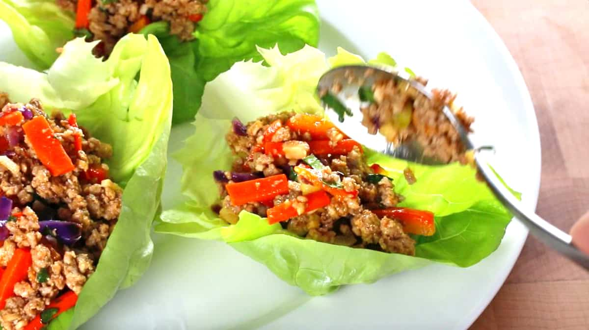 thai lettuce wraps recipe paleo gluten free low carb calorie fat