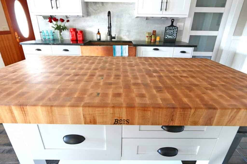 Butcher Block Style Kitchen Counter : The 1912 Modern Farmhouse Kitchen Remodel: Our John Boos Butcher Block Island - The Daring Gourmet