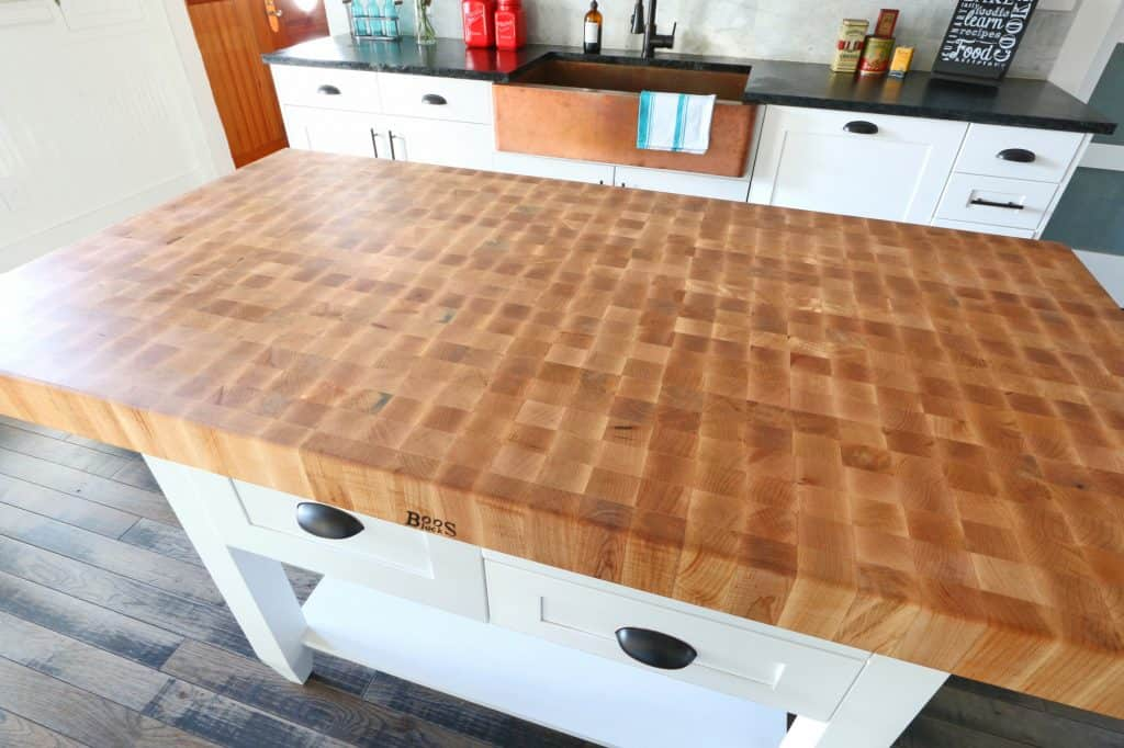The 1912 Modern Farmhouse Kitchen Remodel: Our John Boos Butcher Block Island - The Daring Gourmet