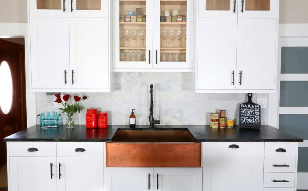 The 1912 Modern Farmhouse Kitchen Remodel Our John Boos Butcher Block Island The Daring Gourmet